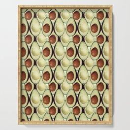 Avocado Pattern Vector Serving Tray