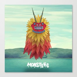 Monsters of the Sea Canvas Print