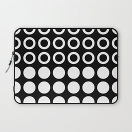 Mid Century Modern Circles And Dots Black & White Laptop Sleeve