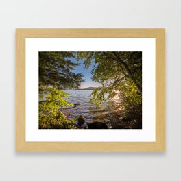 Secret Place By The Lake Framed Art Print