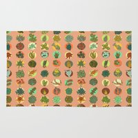 succulents Area & Throw Rugs featuring Succulents by SarahRobbins