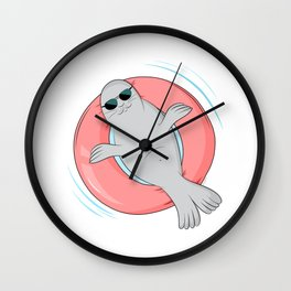 Tanning seal Wall Clock
