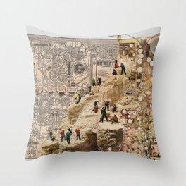 Circuitous Terrain Throw Pillow