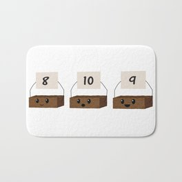 Brownie Points Bath Mat
