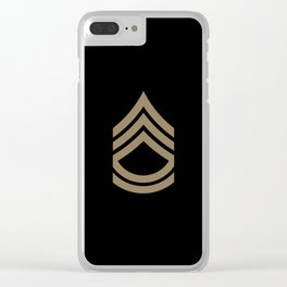 Sergeant First Class (Brown) Clear iPhone Case