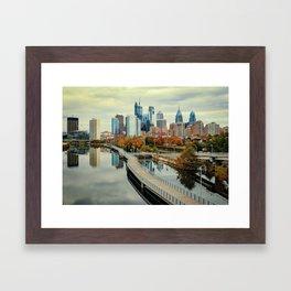 Philadelphia Fall Skyline Framed Art Print