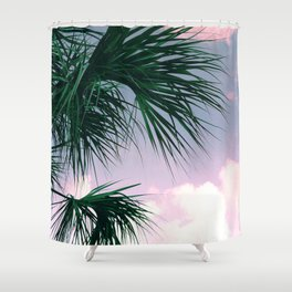 Sunset Palms jungalo tropical Shower Curtain
