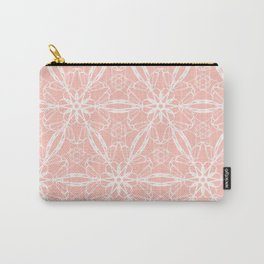 Coral Lace Carry-All Pouch