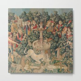 The Hunt of the Unicorn Metal Print