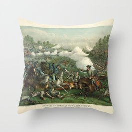 Civil War Battle of Opequan or Winchester Sept. 19th 1864 Throw Pillow