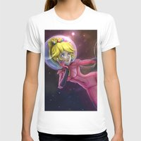 princess peach T-shirts featuring Princess Peach by Luiz Raffaello de Negreiros