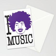 I __ Music Stationery Cards