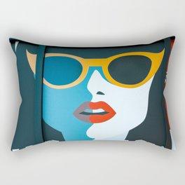 Girl with sunglasses Rectangular Pillow