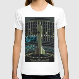 spy agent on missile launcher silo T-shirt
