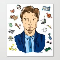 mulder Canvas Prints featuring Fox Mulder  by sarah sawtelle