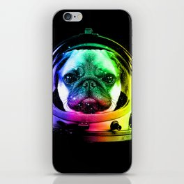 Astronaut Pug iPhone Skin