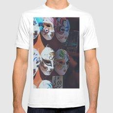 Venetian masks MEDIUM White Mens Fitted Tee