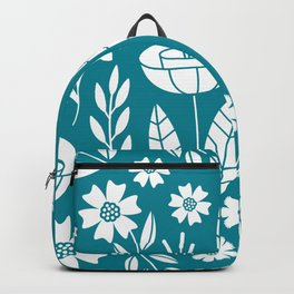 Blooming Field - teal Backpack