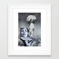 kim kardashian Framed Art Prints featuring Kim Kardashian by John Turck