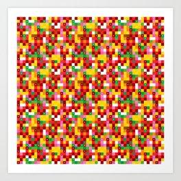 Pixel by pixel – The Birdy Bunch III Art Print