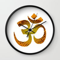 ohm Wall Clocks featuring Ohm by MariquesArt