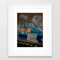 grafitti Framed Art Prints featuring Grafitti Art by Lisa De Rosa-Essence of Life Photography