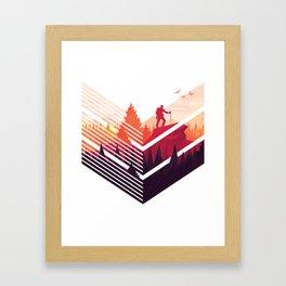 Hiking design Framed Art Print