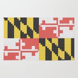 Maryland State Flag Building Block Design Rug
