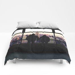 New York City Views-Couple and the Skyline Comforters