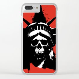 Statue of Liberty Skull Clear iPhone Case