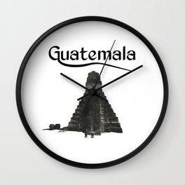 Guatemala Tikal Quetzal Chapin Guate Antigua Peten Maya Puchica Gift Retro Wall Clock