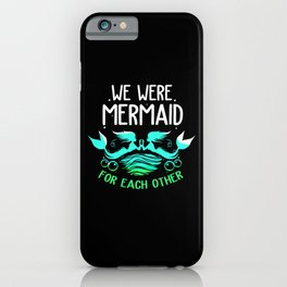 Mermaid Lesbian Made Each Other Underwater Fish iPhone Case