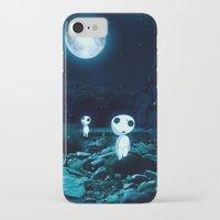 kodama iPhone & iPod Cases featuring Princess Mononoke (Kodama) by pkarnold + The Cult Print Shop