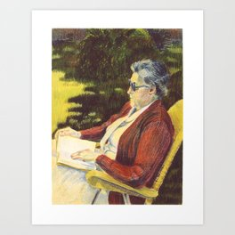 Micheline Reading Art Print