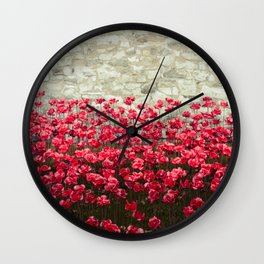 Tower Poppies 04A Wall Clock