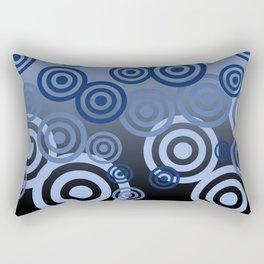 Blue Spirals pattern Design Rectangular Pillow