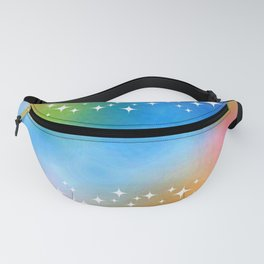 Watercolor Pastel Stars Fanny Pack