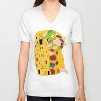 muppets V-neck T-shirts featuring Klimt muppets by tuditees