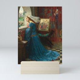 Fair Rosamund by John William Waterhouse Mini Art Print