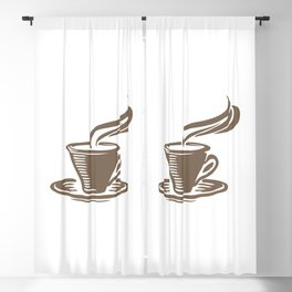 Steaming Cup of Coffee Blackout Curtain