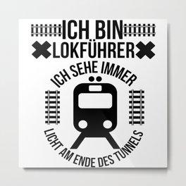 Train Driver Metal Print