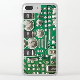 Circuit Board Macro Clear iPhone Case