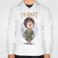 hobbit Hoodies featuring The Hobbit by Roberto Núñez