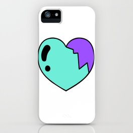 Broken Colorful Heart - Healed Heart - Valentines iPhone Case