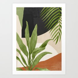 Abstract Art Tropical Leaf 11 Art Print