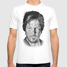 Daryl Dixon Mens Fitted Tee White MEDIUM
