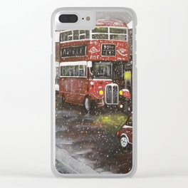 Evening Snow Clear iPhone Case