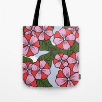 scandinavian Tote Bags featuring Scandinavian Garden by She's That Wallflower