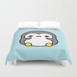 Shy penguin Duvet Cover