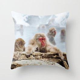 Ice Monkey Throw Pillow